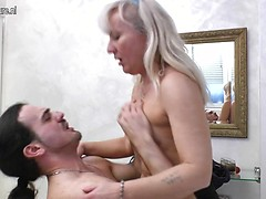 Horny housewife getting a good hard anal fuck
